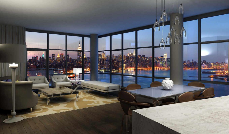 интерьер, современный, стиль, дизайн, город, architecture, уют,