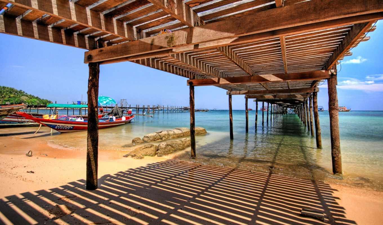 море, summer, песок, мост, пляж, pier, небо, совершенно,