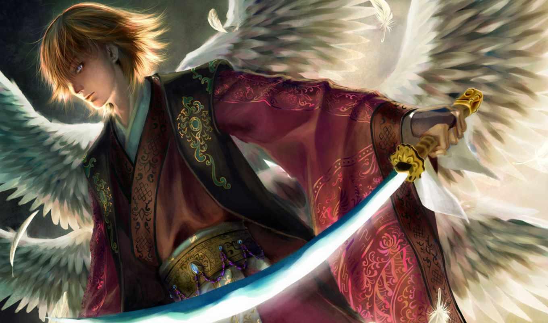 angel, меч, свет, далее,