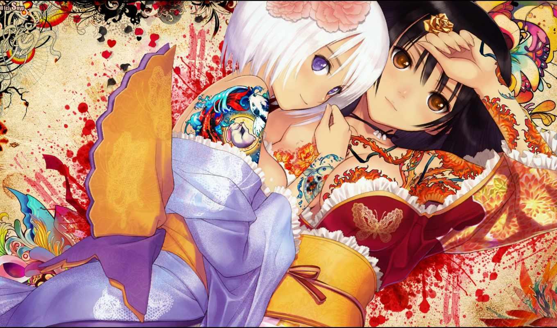 anime, snyp, тату, pinterest, стена, девушка,