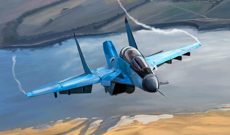 plane, drawing, самолёт, истребитель, полет, крыло, россия, военный