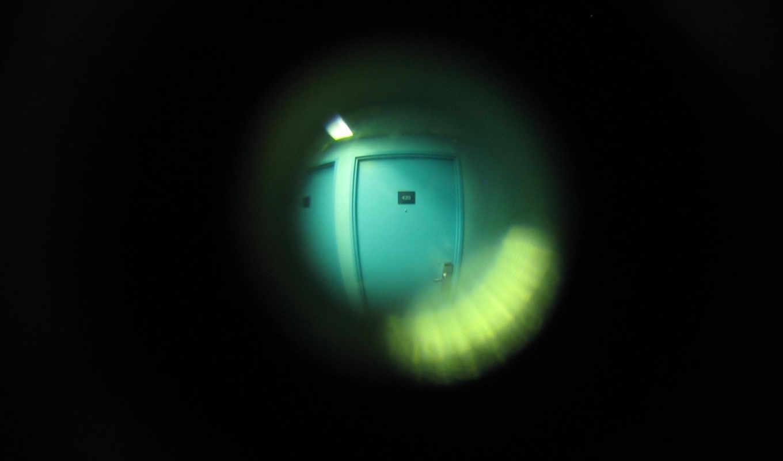 глазок, минимализм, черны, дверь, квартиры, you, шпалери, лампа, вид,
