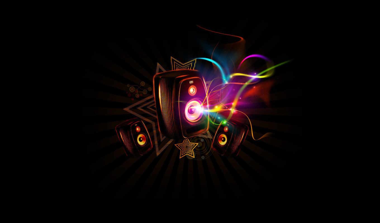 звезды, колонка, звук, волны, house, bedo, şahê, музыкальные, trance, абстракция, with, темы, music,