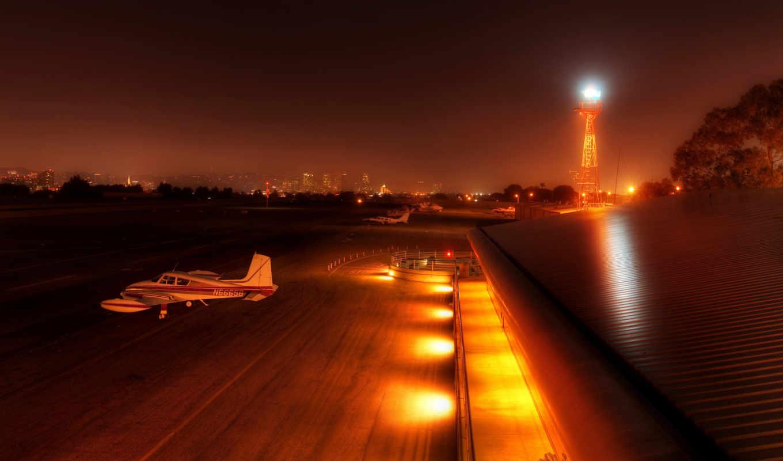 аэропорт, город, вечер, aircraft, aircrafts, фонари, самолеты, ночь, airports, you,