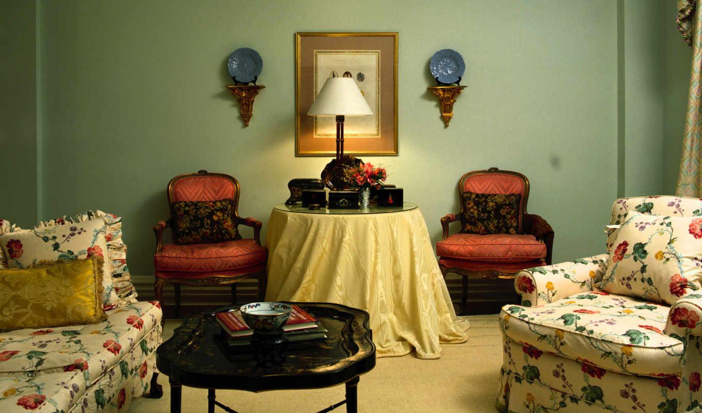 ретро, стиле, design, интерьер, комнаты, интерьера, винтаж,