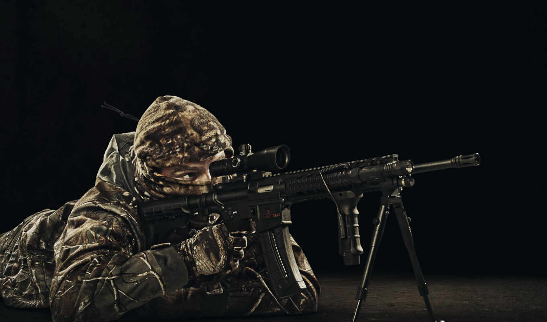 оружие, снайпер, солдат,