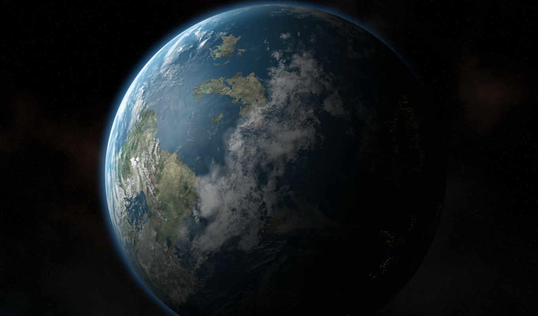 land, planet, cosmos, материки, ночь, звезды,