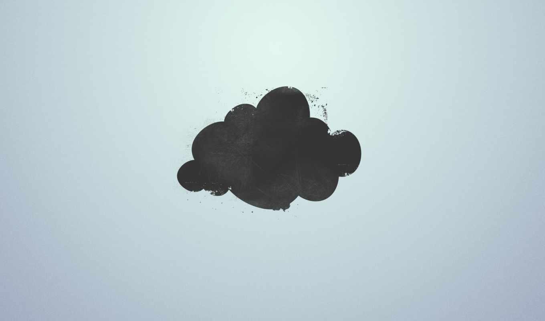 минимализм, облако, обои, гранж, hd,