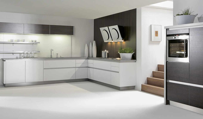 кухня, белая, дизайн, кухни, interior, стулья,