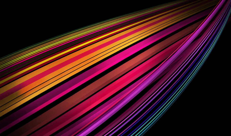 разноцветные, полосы, линии, черный, темный,