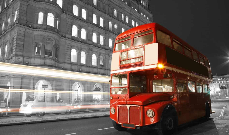 чёрно, london, город, white, дорога, улица, великобритания, ночь, огни,