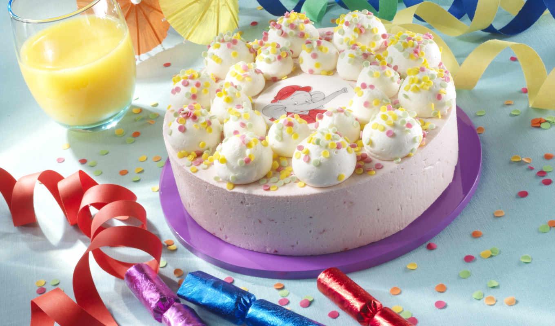 рождения, день, праздник, торт, сок, birthday, benjamin, blümchen, , конфетти, широкоформатные, зонтики, den,