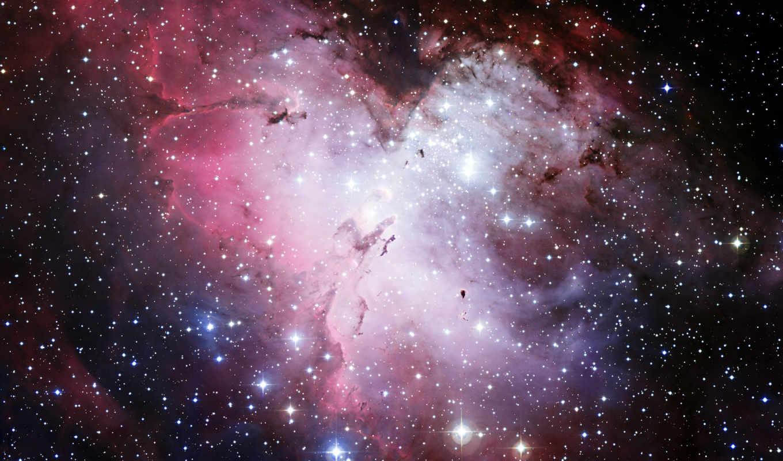 хаббл, телескоп, звезды, туманность, ngc, орел, космос, hubble, wide,