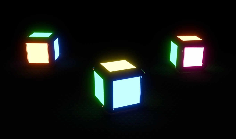 кубик, rendering, blender,