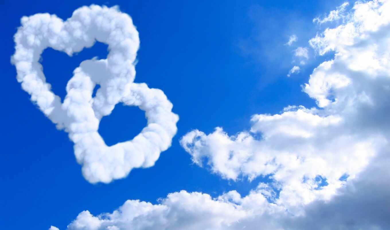 oblaka, сердце, сердца, креативные, love, облако, об, компьютер, рисунки,