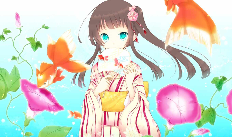 anim, девушка, anime, give, тег