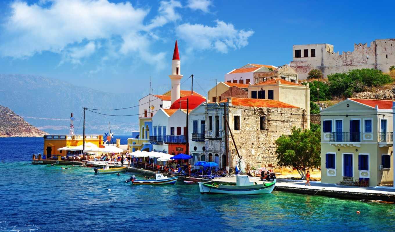 греция, набережная, лодки, причал, красивый, дома, уголок, правой, кнопкой, греции, мыши, красивая, выберите, картинку,