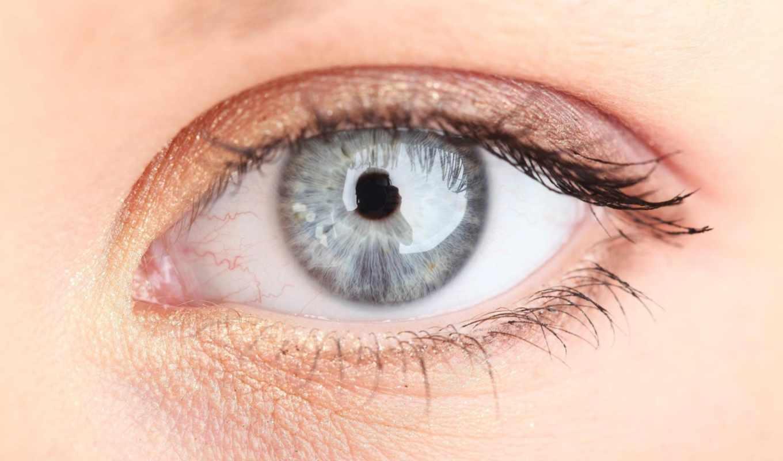 макро, глаз, веки, отражение, ресницы,