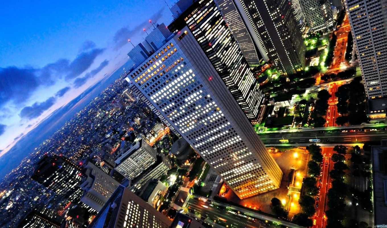 ночь, город, города, городов, бесплатные, дорога, банка,