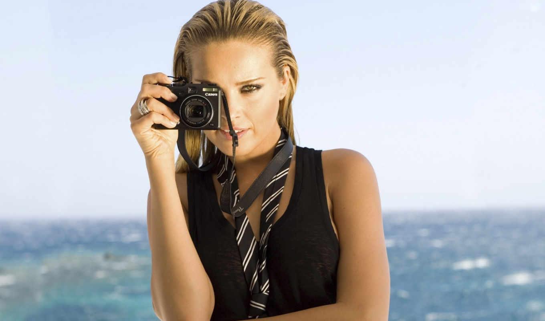 девушка, canon, фотоаппарат, петра, взгляд, nemcova, фотоаппаратом, улыбка,