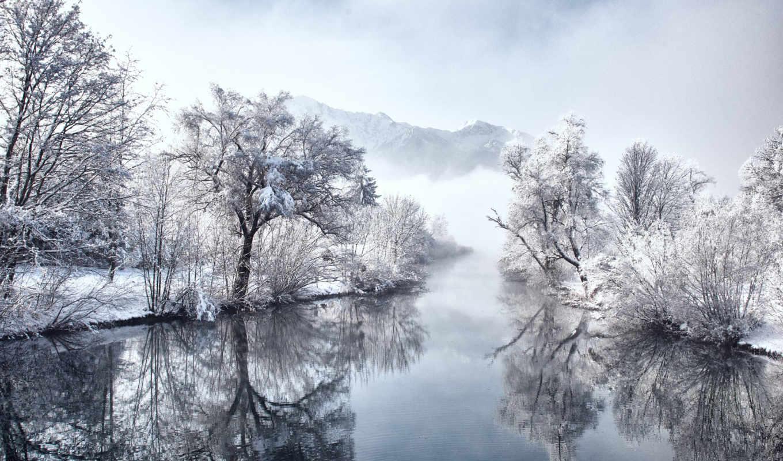 природа, заставки, снег, winter,