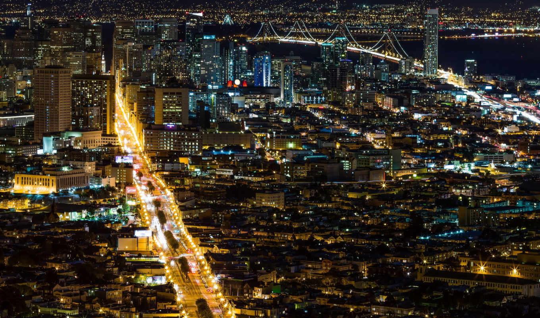 мира, фотографий, города, san, francisco, городов, разных, ночь,