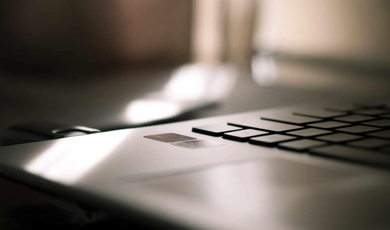 ноутбук, минимализм, клавиатура, unlock