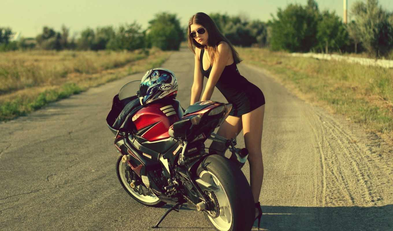 обои, девушка, девушки, мотоцикл, фото, suzuki, мо