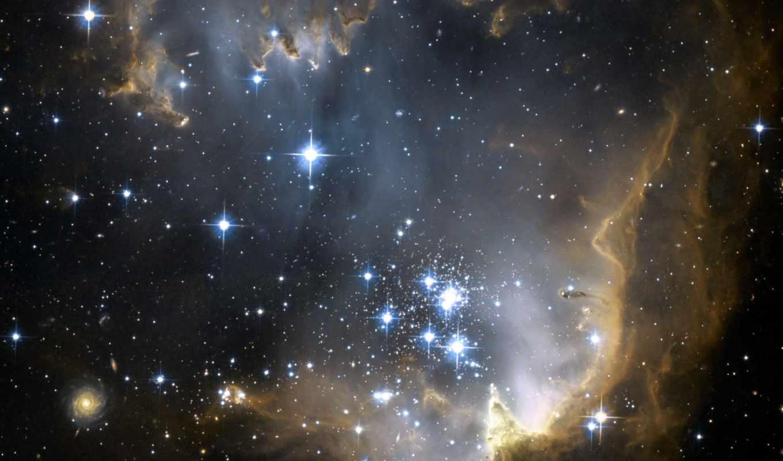 космос, звезды, туманность, ngc, новорожденные, картинка, картинку, кнопкой, участке, мыши, правой,