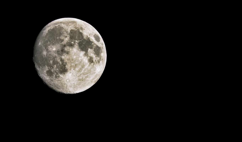 луна, спутник, black, planet,
