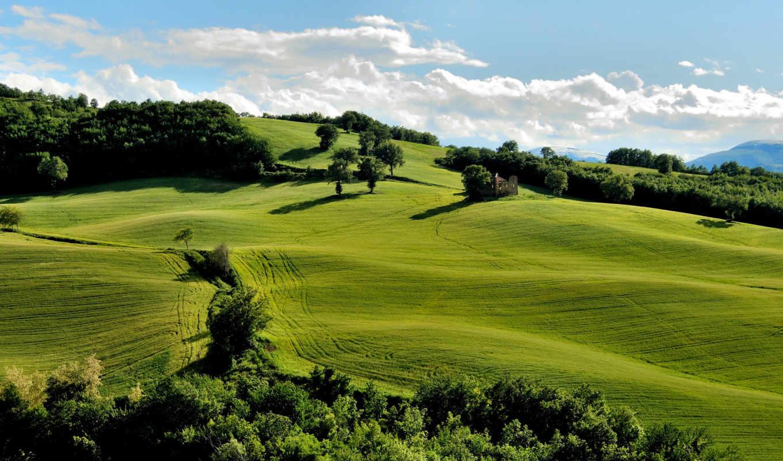 hills, трава, природа, холмы, небо,