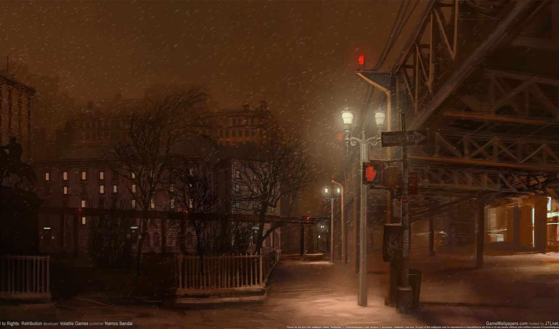 ночь, улица, свет, streets, снег, event,