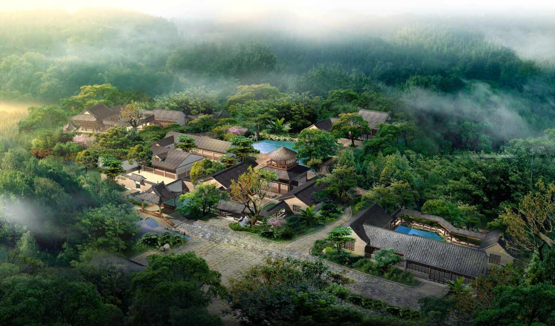 деревня, india, посещение, landscape, free, diskit, architecture, город