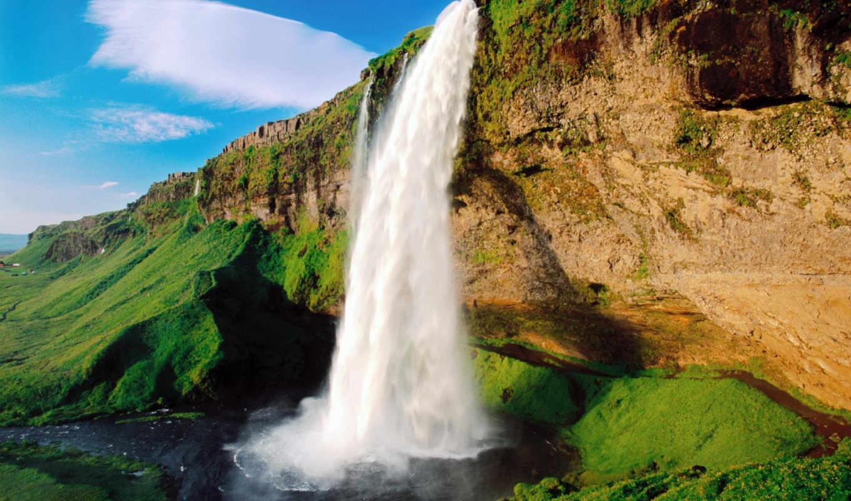 nature, waterfall, images, shark, screensaver, desktop, sample, хребет, water, www, canvas, tablo, manzara, çerçeveli, background,