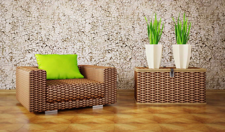 интерьер, дизайн, мебель, кресло, паркет, лозы, растения, подушка, картинка, правой, кнопкой, картинку,
