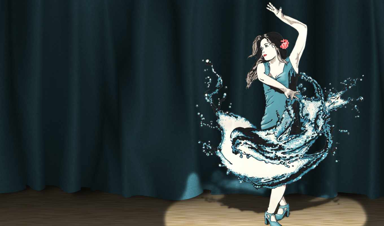 scene, танцовщица, прожектор, magazine, smashing,
