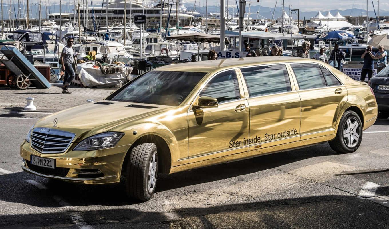 mercedes, лимузин, мерседес, cannes, pullman, festival, benz, klasse, золотой, яхты, спец, передок, версия,