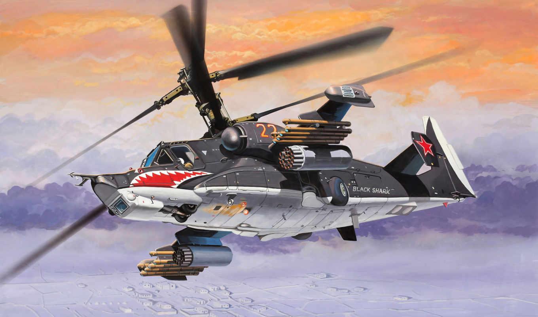 ка, акула, советский, вертолет, черная, арт, hokum,