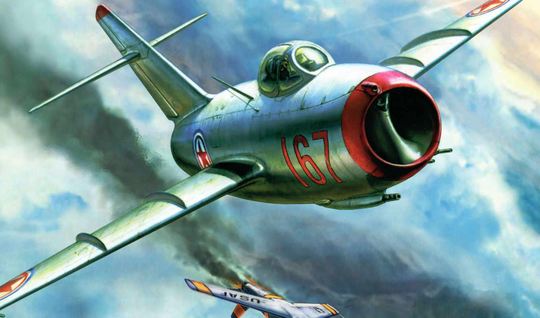 миг, самолеты, fagot, окб, рисованные, авиация, pictures, микояна, против, истребитель, от, mig, советский, гуревича,
