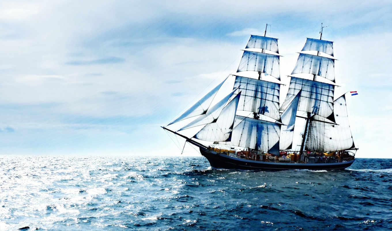 корабли, корабль, море, заставки, sailboat,