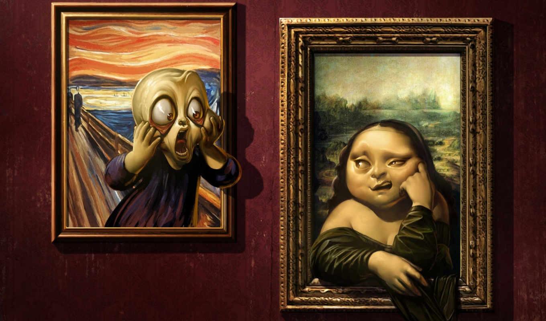 mona, лиза, картины, картинка, оригинал, купив, париже, even, подделываются, often, произведете,
