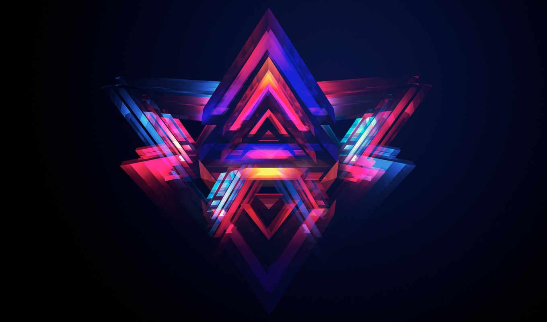 abstract, взгляд, loading, треугольник, pyramids, яркий, desktop,