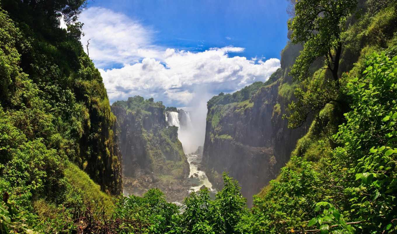 красивые, самые, falls, водопады, нояб, которые, zambia, victoria, many, птица,