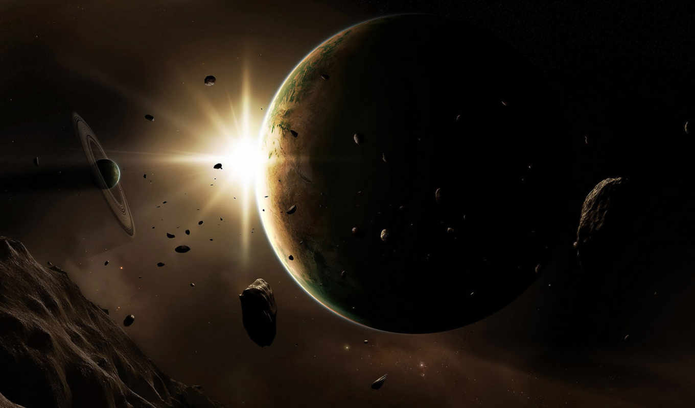 space, art, planets, digital, asteroids, картинка, universe,