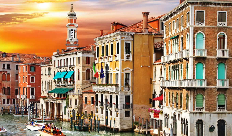 италия, венеция, canal, grande, дома, venetian, города, sunset, водопады, choose, corner, wall, гранд, colorful, канал,