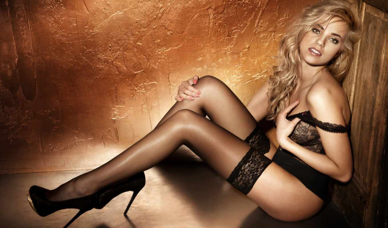 ,блондинка,девушка,черное белье,чулки,эротика,