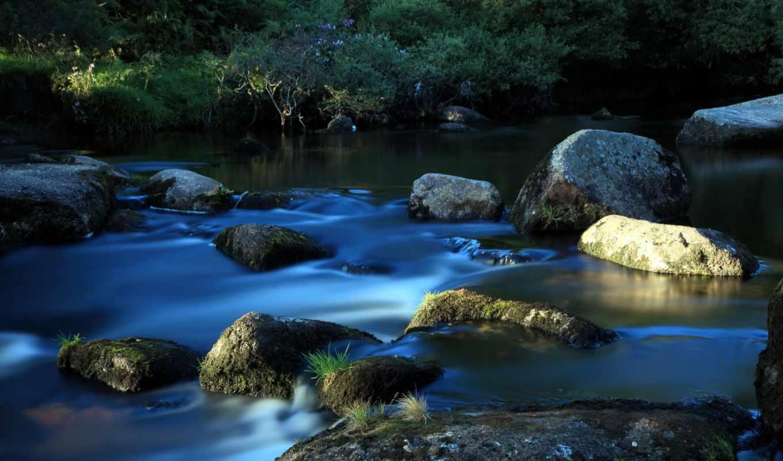 высоком, ручей, река, камни, разрешений,