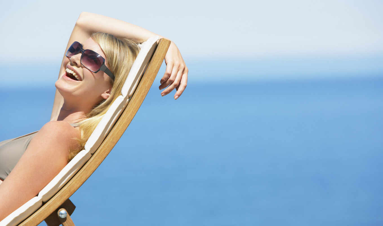 пляж, женщина, sunglasses, hotel
