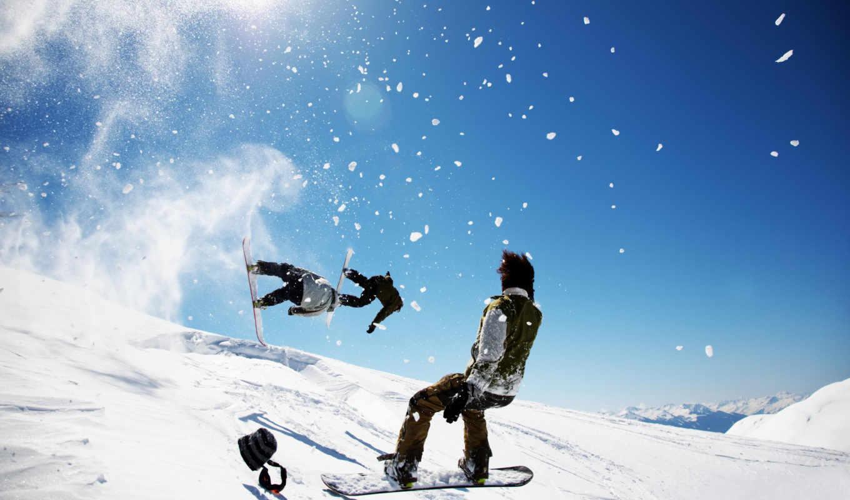 snowboard, extreme, descargar, snowboarding, снег, guys, tricks, people, winter,