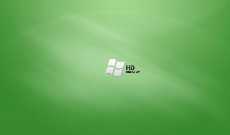 windows, logo, green